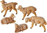 Fontanini Sheep Italian Nativity Village Figurines Set of 5