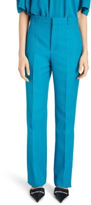Balenciaga Straight Leg Tech Twill Suit Pants