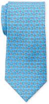 Pierre Cardin Silk Horseshoe Flower Tie