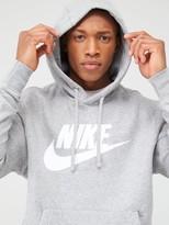 Nike Club Graphic Overhead Hoodie - Dark Grey