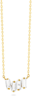 Kalan By Suzanne Kalan 14K Yellow Gold Mini Baguette Topaz Pendant Necklace, White