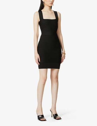 Herve Leger New Icon bandage stretch-knit mini dress