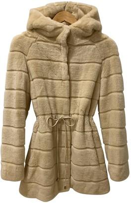 Trussardi Jeans Beige Faux fur Coat for Women