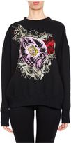 Alexander McQueen Embroidered Poppy Sweatshirt