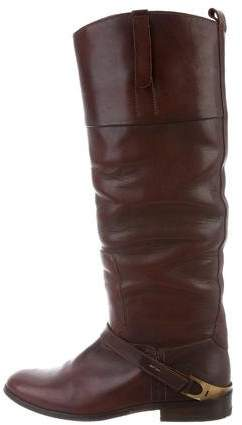 Golden Goose Leather Round-Toe Boots