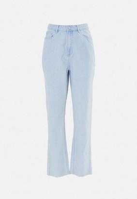 Missguided Blue Wrath Highwaisted Straight Leg Jeans