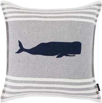 Nautica Whale Applique Throw Pillow