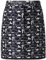 Thom Browne animal print short skirt