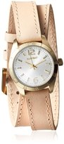 Ellen Tracy Women's ETS011GDTP Grey Stainless Steel & Taupe Watch