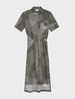 DKNY Pure 3-D Pinstripe Button Through Dress