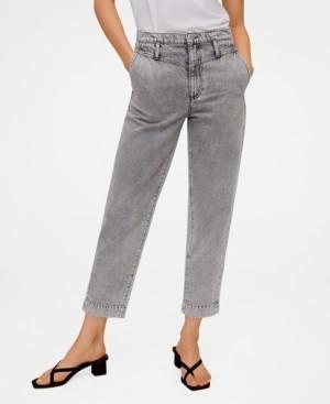 MANGO Straight High Waist Jeans