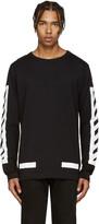 Off-White Black Brushed Diagonals T-Shirt