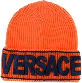Versace Logo manifesto beanie
