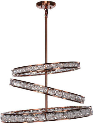 Zeev Lighting Imbrium Collection Contemporary Lighting, Brushed Copper