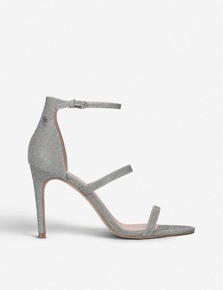 Kurt Geiger Park Lane metallic heeled sandals
