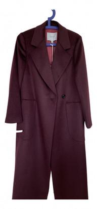 Jigsaw Burgundy Wool Coats