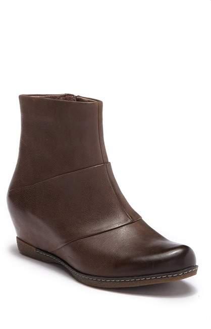 Dansko Lettie Burnished Leather Wedge Boot