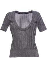 Missoni Deep Scoop Short Sleeve Top