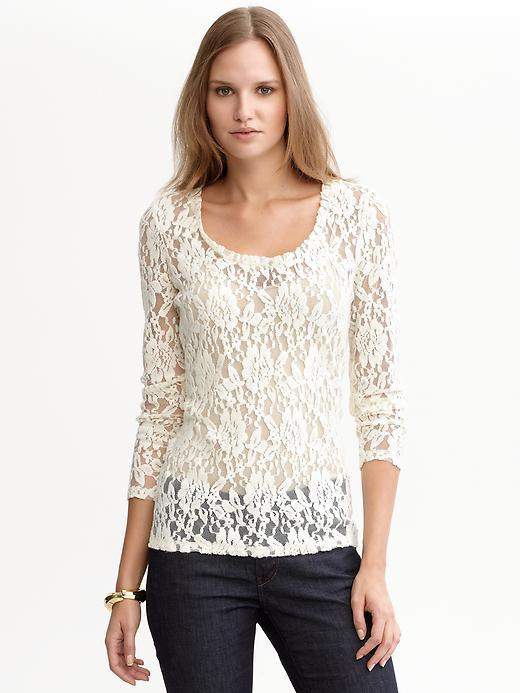 Banana Republic Lace long-sleeved tee