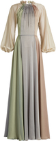 Luisa Beccaria Balloon-sleeved chiffon gown