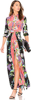 Diane von Furstenberg Floral Maxi Dress in Pink. - size 0 (also in 4)