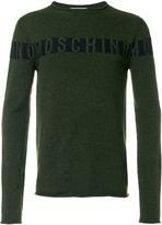 Moschino knitted logo sweater