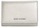 Marc Jacobs Women's Metallic Leather Wallet - Grey