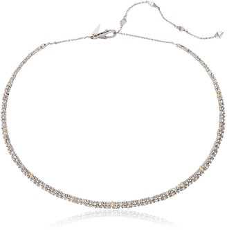 Alexis Bittar Crystal Encrusted Spike Accented Choker Necklace