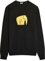 Loewe Intarsia Wool-blend Sweater - Black