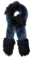 Fendi Lamb and fox-fur scarf
