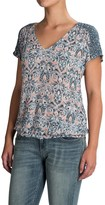 Lucky Brand V-Neck Peasant Top - Short Sleeve (For Women)