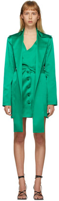 MATÉRIEL Green Silk Blazer Dress