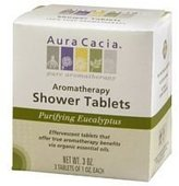 Aura Cacia Purifying Aromatherapy Shower Tablets Eucalyptus -- 3 Tablets