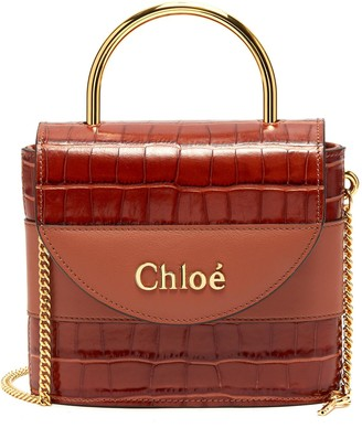 Chloé Abylock' croc embossed leather handle bag