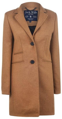 Jack Wills Pimlico Wool Crombie Coat