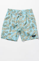 "Barney Cools Amphibious Pineapple 17"" Hybrid Shorts"