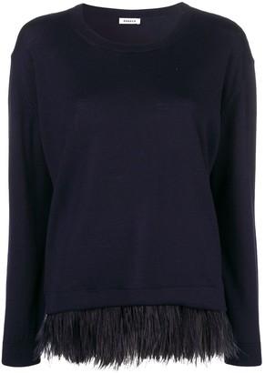 P.A.R.O.S.H. Feather Hem Sweater