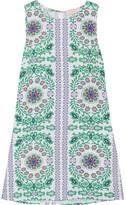 Tory Burch Garden Party Printed Linen-blend Mini Dress