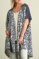 Umgee USA Navy Print Kimono