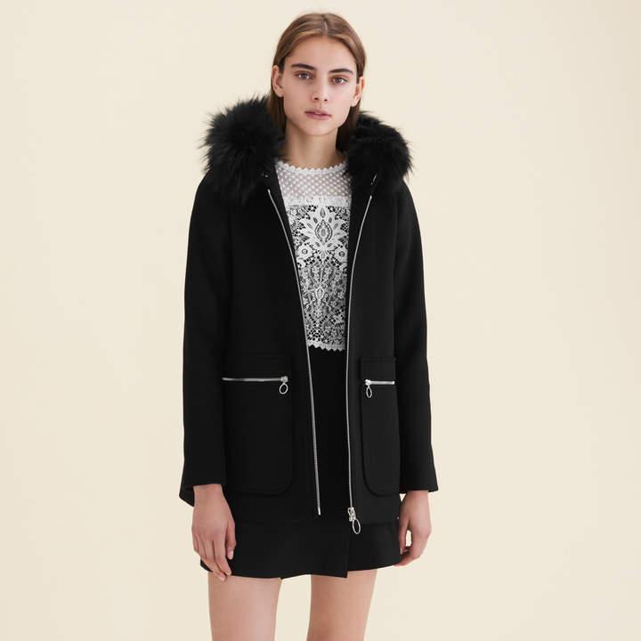 Maje Coat with decorative zips