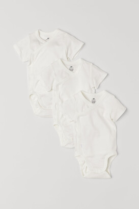 H&M 3-pack Wrapover Bodysuits - White