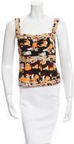 Emilio Pucci Printed Wool Sleeveless Top