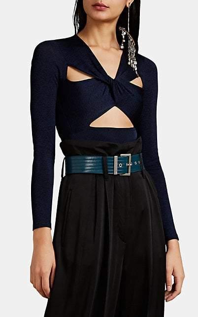 Givenchy Women's Mélange Cutout Bodysuit - Blue