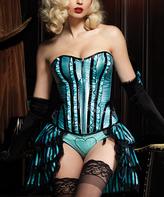 Leg Avenue Blue & Black Skirted Betty Corset