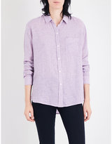 Rails Charli striped linen-blend shirt