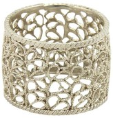 Buccellati Filidoro Lace 925 Sterling Silver Wide Band Ring Size 6.5