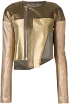 Rick Owens metallic zip jacket