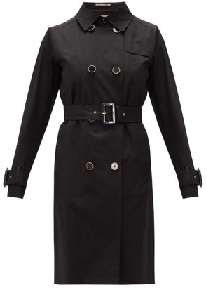 Herno Double-breasted Cotton-gabardine Trench Coat - Black