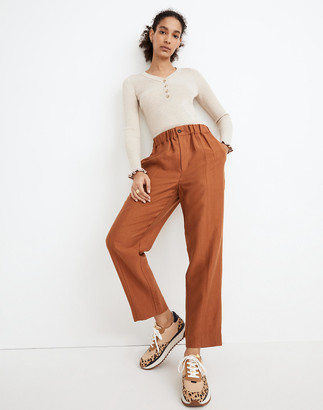 Madewell Tapered Huston Pull-On Crop Pants