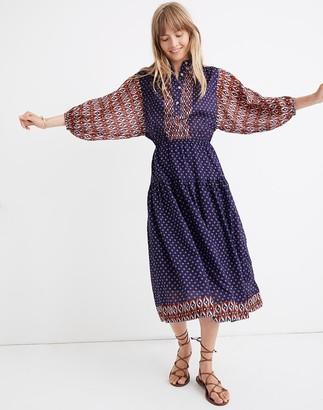 Madewell Warm Canyon Club Maxi Dress